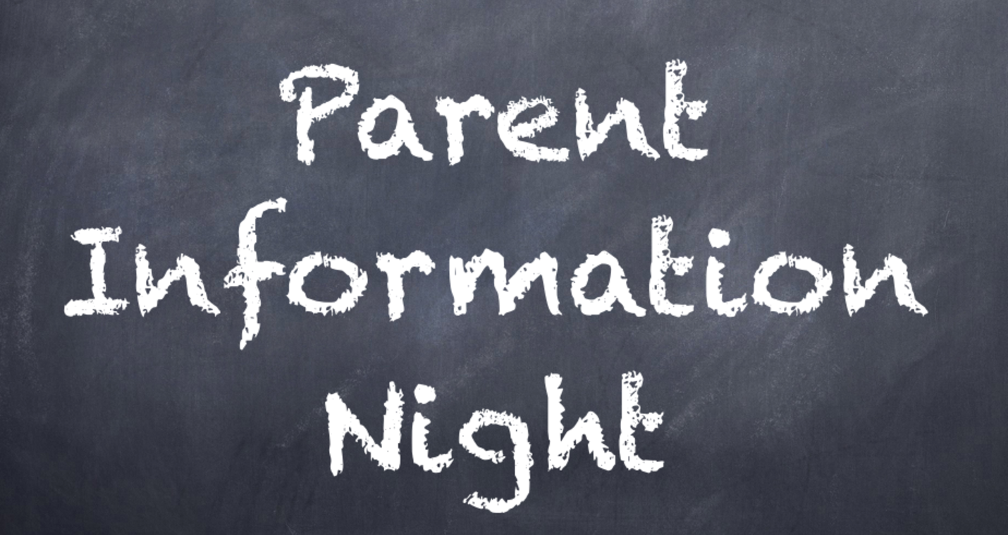 Parent Information Night on April 28